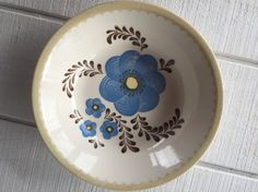 Vintage Large Pasta Serving Bowl Vintage Royal by Pattern Names, Large Bowl, Vintage China, Vintage Kitchen, Blue Flowers, Serving Bowls, Stencils, Decorative Plates, Pasta