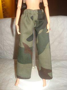 Barbie Doll Separates - Elastic waisted military camoflage print pants - es206