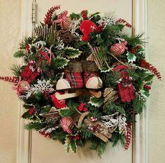 On Sale > Rustic Woodland Wreath, Winter Rustic Wreath, Christmas Wreath, Rustic Christmas Decor, Rustic Decor, Christmas Rustic Wreath by SouthTXCreations on Etsy