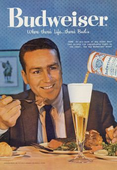 Vintage Budweiser Beer Ad 1959 Advertisement Print by AdVintageCom