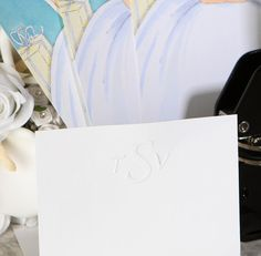 Maybe you want a simple font or you are looking for something a little flair. Either way your monogram will look lovely on all your notes and cards. Customize your #monogram #embosser today.