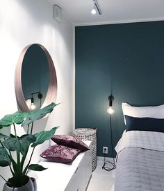 53 Ideas for bedroom green accents wall Bedroom Inspo, Home Bedroom, Master Bedroom, Bedroom Decor, Bedroom Mirrors, Bedrooms, Bedroom Ideas, Bedroom Modern, Trendy Bedroom