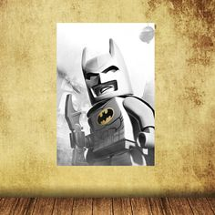 Poster Reusable Removable Wall Decal Batman Lego Wall Sticker