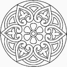 mandala cute pattern for a stencil or colouring in? Mandala Coloring Pages, Colouring Pages, Adult Coloring Pages, Coloring Sheets, Coloring Books, Mandala Pattern, Mosaic Patterns, Embroidery Patterns, Quilt Pattern