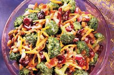 Broccoli and Cranberry Salad... this sounds like a yummy spring/summer side!!