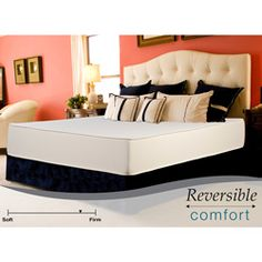 @Overstock - This 10-inch foam mattress provides superior comfort for a good night's rest. This reversible mattress is constructed of plush foam on top of high density foam with a damask cover.   http://www.overstock.com/Home-Garden/Reversible-Comfort-Firm-10-inch-Queen-size-Foam-Mattress/5530735/product.html?CID=214117 $333.99
