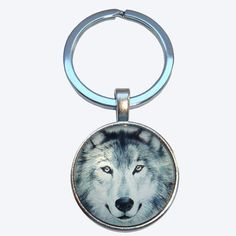 Come on the Wolves......Keyring | Arctic Wolf | Themed | Bassin and Brown www.bassinandbrown.com White Wolf, Grey And White, Wolf Images, Arctic Wolf, Gift For Lover, Thoughtful Gifts, Pocket Watch, Wildlife, Brown