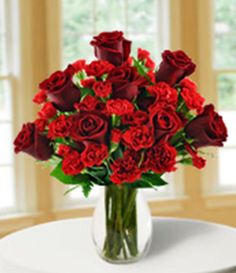 Blooms Today Red Hot Romance Arrangement  http://bloomstoday.com/