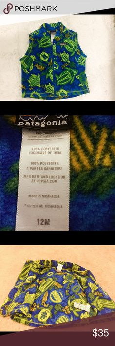 Patagonia Synchilla Fleece Vest 12M Like new condition; soft, warm, double-faced fleece; very Hawaiian design. Patagonia Jackets & Coats Vests