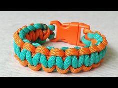 How to make Cobra Wave (Solomon Bar)two color paracord bracelet - YouTube