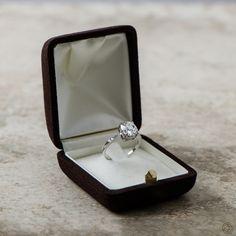 WOW! A lovely antique cushion cut diamond engagement ring. Set in platinum. Old Mine diamond circa 1920.