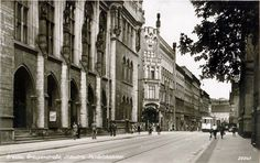 1940, ul. Krupnicza. Genius Loci, Travel Abroad, Old Photos, Poland, Nostalgia, Old Things, Germany, Street View, Places
