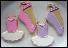 ballet cookies. different color top from tutu.