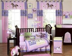 Pretty Pony 9 Piece Crib Bedding Set