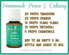 Homemade peace and calming
