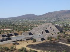 TEOTIHUACÁN - Sun Pyramid outside of Mexico City.  Went there in high school and want to go back.  This is what the Disney Epcot pyramid is modeled after