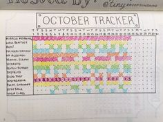 "Bohoberry Bullet Journal Habit Tracker ""My monthly habit tracker is one of the most visited pages in my Bullet Journal. I developed this tracker as a way to eliminate writing repetitive tasks on my daily pages. I love to look back on this tracker at the end of every month. It's a great tool for self assessment and reflection."""