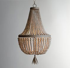 Dauphine Wood Empire Chandelier for dining room?  25 inches tall