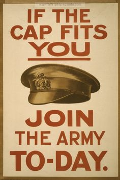 Vintage World War I poster of a British army hat Canvas Art - John ParrotStocktrek Images x