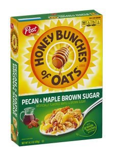 Honey Bunches of Oats with Strawberries cereal is made of real fruit, crunchy oat clusters and crispy flakes. Whole Grain Foods, Whole Grain Wheat, Whole Grain Cereals, Strawberry Cereal, Best Cereal, Granola Clusters, Oats And Honey, Breakfast Cereal, Breakfast Menu