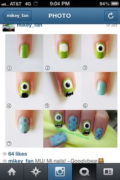 Cute nails monster inc !!!!!