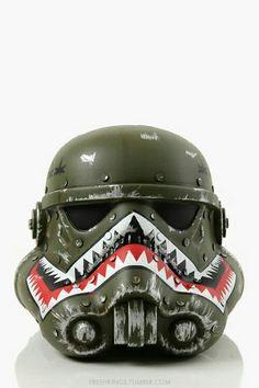 Military Storm Trooper style motorcycle helmet