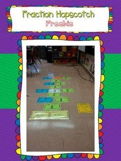 Fraction Hopscotch {Equivalent Fractions, Adding Fractions