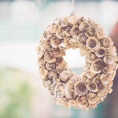 This wreath by Made In Heaven is made of music paper sheets. It is suitable for an elegant or a vintage wedding either! Isn't it beautiful? Music Paper, Made In Heaven, Burlap Wreath, Crochet Earrings, Wreaths, Elegant, Wedding, Beautiful, Vintage