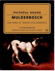Mulderbosch Faithful Hound 2002 from South Africa - Mulderbosch Faithful Hound is a Bordeaux-style red blend of Merlot, Cabernet Sauvignon and Malbec. It is deep ruby red in color with a nose of straw. Online Wine Store, V&a Waterfront, Wine And Beer, Red Wine, South Africa, Faith, Strategic Planning, Google Shopping, Cape Town
