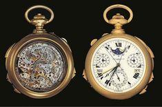 uno de los relojes mas caros del mundoEl reloj de bolsillo Supercomplication Henry Graves de Patek Philippe – 11 millones de dólares.