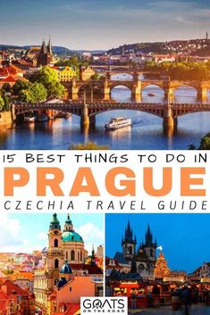 Looking for the best things to do in Prague? Whether you want to visit the Prague castle go museum hopping enjoy a river cruise or check out the local markets weve got 15 tips for your itinerary! Backpacking Europe, Europe Travel Guide, Europe Destinations, Europe Packing, Traveling Europe, Packing Lists, Travel Deals, Travel Guides, Travelling