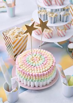 Wonderful Absolutely Free fruit cake decoration Tips - yummy cake recipes Candy Cakes, Cupcake Cakes, Cute Cakes, Yummy Cakes, Fruit Birthday Cake, Girl Birthday Cakes Easy, Birthday Candles, Marshmallow Cake, Fresh Cake