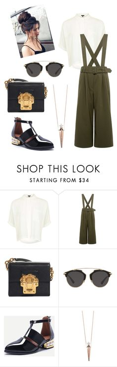 """""""🌵"""" by mrs-alsalamah ❤ liked on Polyvore featuring Topshop, TIBI, Dolce&Gabbana, Christian Dior and Diane Kordas"""