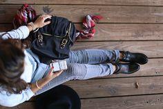 @hauteofftherack styled out #HudsonJeans Stark #Moto in Rakke. #OOTD