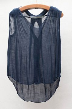Navy Sleeveless Top | shopheist.com | like most of the clothes on this site