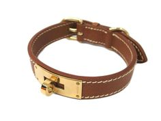 #HERMES Collar for Small Dog Courchevel Leather Brown (BF300907) All of #eLADY's items are inspected carefully by expert authenticators who have years of experience. For more pre-owned luxury brand items, visit http://global.elady.com