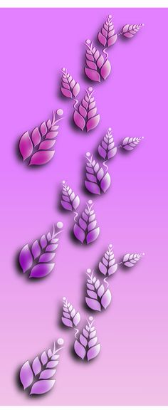 Design of a small pattern formed by leaves. Shades of lilac and pink,  #leaves #pattern #lilac #pink #design #inkscape #vector