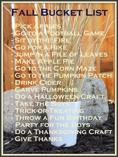 Fall Bucket List (the most wonderful time of the year)
