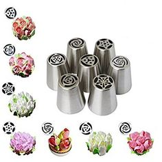 HENGSONG 7PCS Pastry Tips Icing Piping Nozzles Decorating Cupcake Decorator Kitchen Accessories ** You can get more details by clicking on the image.(This is an Amazon affiliate link and I receive a commission for the sales)