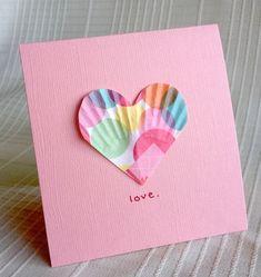 Valentine Paper Craft Ideas Be Brave Keep Going Easy Valentines Craft Paper Liner Hearts Easy Valentine Crafts, Be My Valentine, Holiday Crafts, Valentine Cards, Cupcake Card, Paper Cupcake, Craft Activities, Preschool Crafts, Cute Crafts