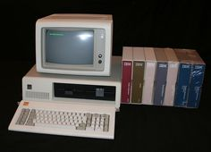 IBM Personal Computer (PC) with software and manuals, circa 1983