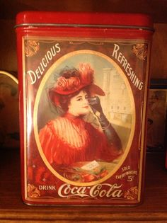 Coca-Cola Lady in Red Tin