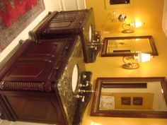 Side by side vanities instead of a wide double vanity!  For more ideas visit my website www.mrsfixit.com