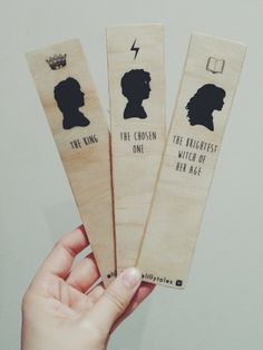 THE CORE THREE  Harry Potter bookmark range by LillytalesShop