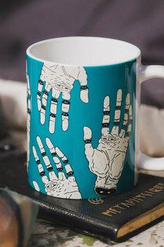 """THE HAND OF DESTINY / LA MANO DEL DESTINO"" Mug by MRCLV / UNDEAD on Society6."