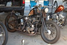 Bobber Inspiration | HD Knucklehead bobber | Bobbers and Custom Motorcycles