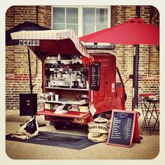 Piaggio conversion in London. #foodtruck
