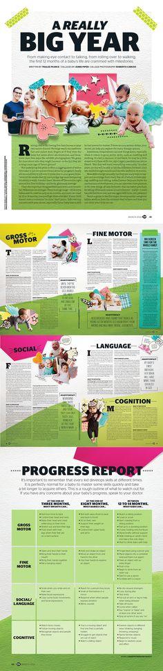 Baby Milestones Feature - Today's Parent Magazine. Designer + Collages: Jamie Piper #Editorial