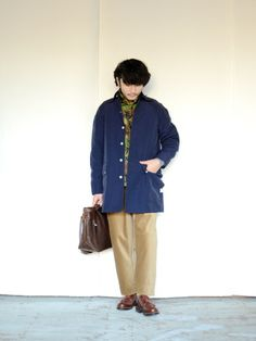 SASSAFRAS coat and the current love, Paraboot Chambord.