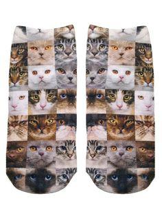 Cat Faces Socks – Living Royal